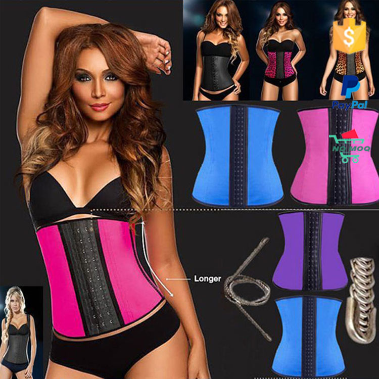 Wholesale 3 Hooks S-6XL Colombia Slimming Woman Latex Waist Trainer Corset