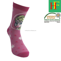 cartoon socks for girls Elsa Anna