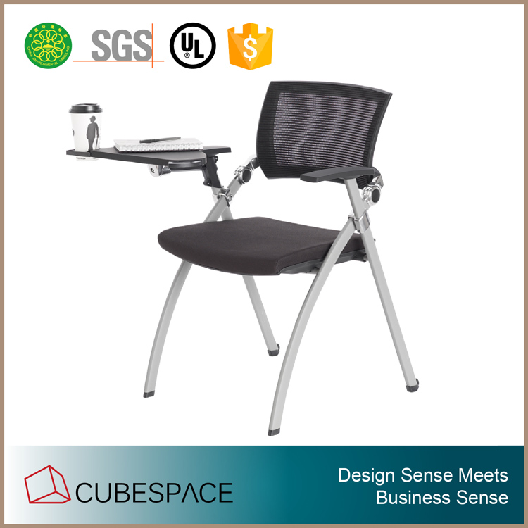modern school chair design, student chair with tablet, shool chair with writing pad