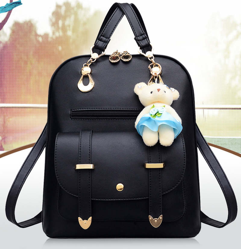 Kawaii girl PU backpack shool bag
