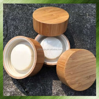 Bamboo lid / glass jar with bamboo lid 75*30mm Other size can customized bamboo lid manufacturer