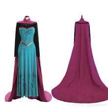 Adults Women Frozen Princess Queen Anna Elsa Costume Cosplay Party Fancy Dress