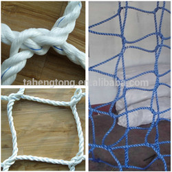 plastic cargo net climbing pp rope netting with mesh