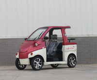 4 Wheel 3 Seats/ Person Mini Electric Patrol Car with 25L Trunk