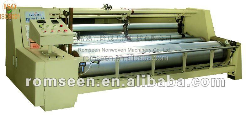 Non-woven fabric slitting and rolling machine