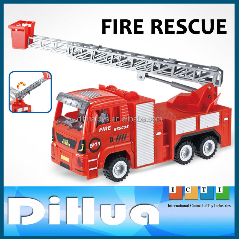 Kds Plastic Toy Fire Fighting Truck Friction Car