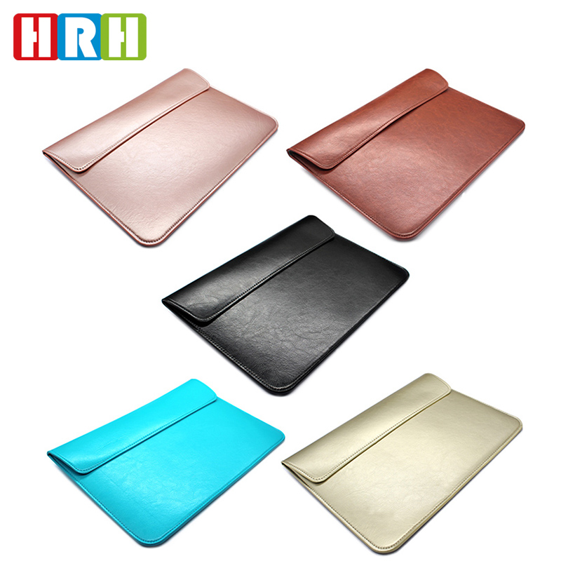 soft PU leather case universal portable Protective laptop bag pouch for Apple Macbook Air/Pro