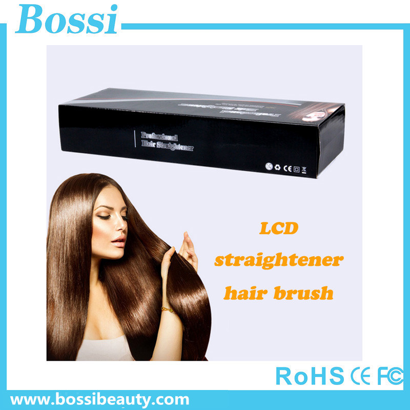 OEM hot sale salon equipment instant magic silky straight hair styling.anti scald ceramic hair straightening brush
