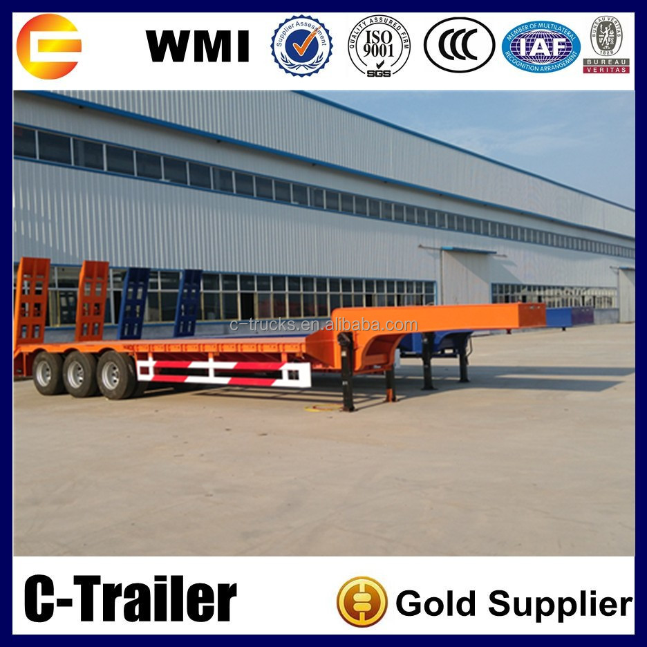gooseneck low bed cargo trucks and trailers, lowboy semi trailer for sale