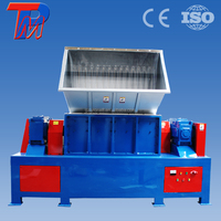 Guangzhou sale double shaft grinder machine to big roll of woven bag crusher shredder