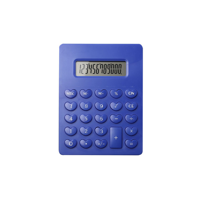 12 Digit Electronic Handheld Calculator with Heart Shape Button