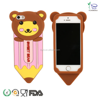 factory sell exquisite pencil style silicone case for cell phone