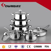 Wholesale Technique Induction Non-Stick Stainless Steel Cookware Set Kitchen