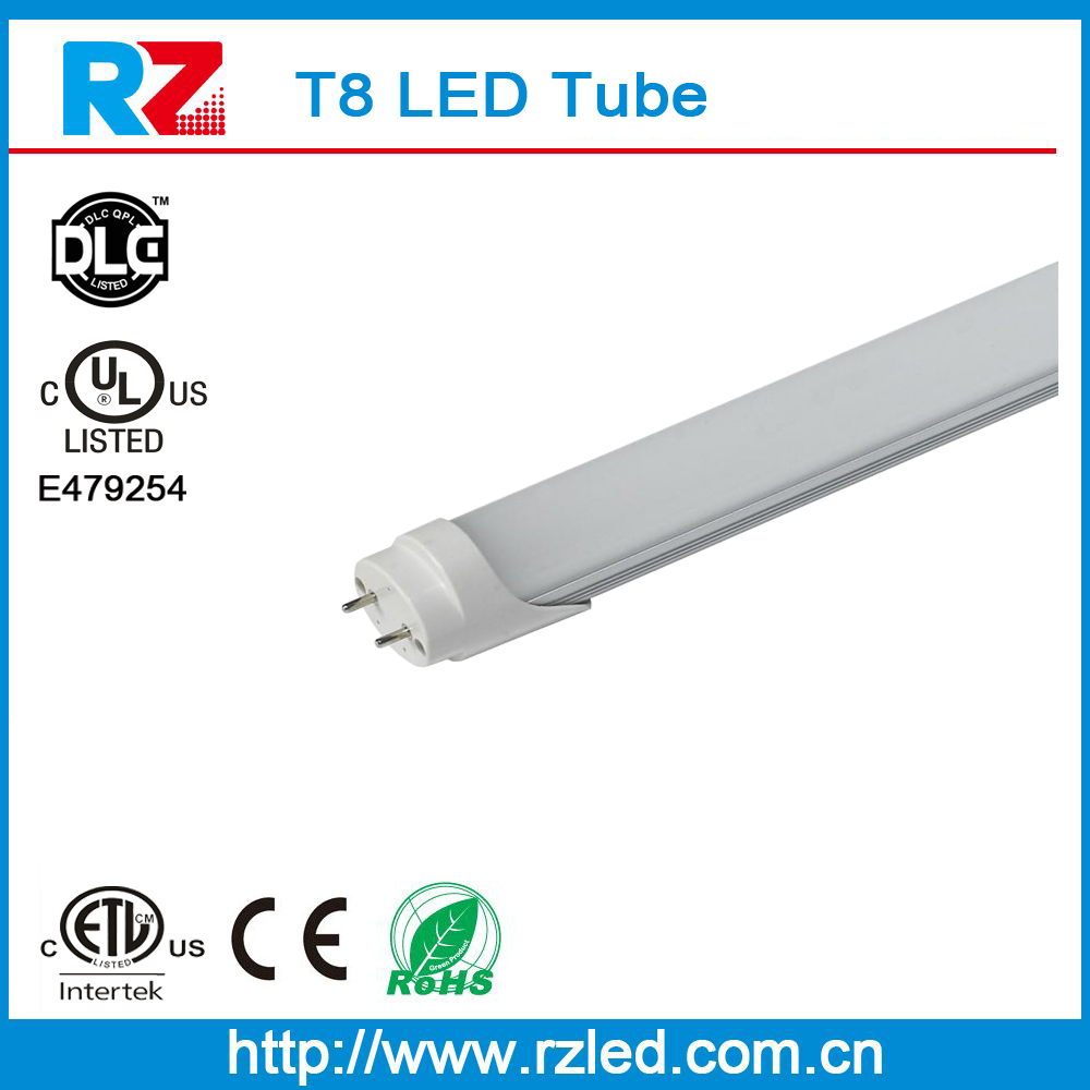UL ETL CE ROHS approval waterproof ip44 high lumen 140lm/w T8 LED Tube Lighting with 3years warranty