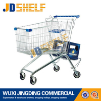 wholesale european style metal grocery supermarket shopping cart
