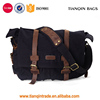 Nice Quality Unisex's Classic Canvas Shoulder Messenger Bag Crossbody Bag Leather Straps Black