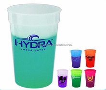 plastic color changing drinking cup