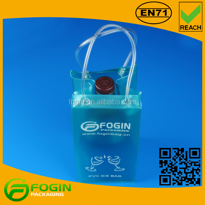 promotional wholesale plastic wine cooler bag pvc