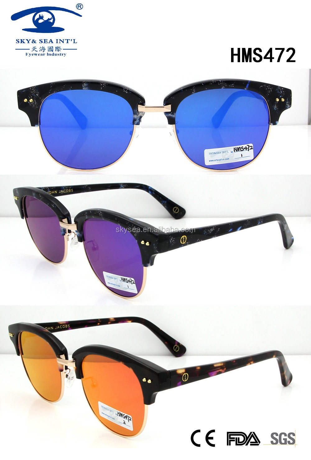 2016 colorful new arrival fashion acetate sunglasses