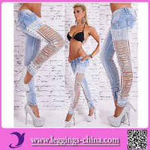 2017 High Quality Strong Elastic Sex Legging Pants Jeans
