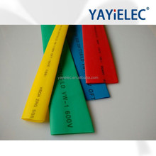 6mm 7mm 8mm tubing, yellow and green striped heat shrinkable sleeve, electrical heat shrink sleeve