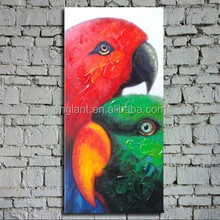 Simple home decorative oil painting of parrots