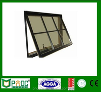 Aluminium Window And Door,Aluminum Top Hung Window With Double Australia Standard Glass
