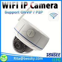 720P Wireless Wifi Outdoor Dome IP Camera with 2.8-12mm high definition camera