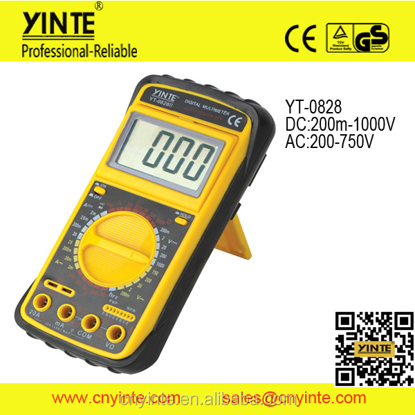 YT-0828 Portable AC DC Voltage LCD Digital Multimeter