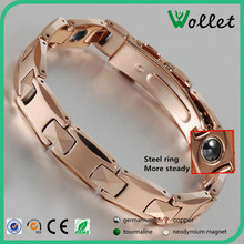 Couple tungsten 99.999% germanium bracelet with steel ring