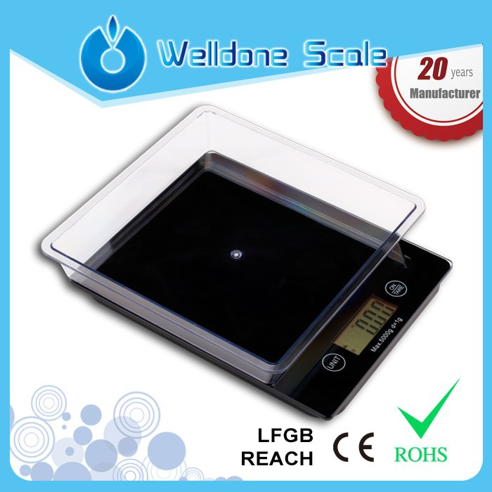 Small Digital Kitchen Mini Scale food weighing scales with Bowl 11lb/5kg by 0.1g JW-201