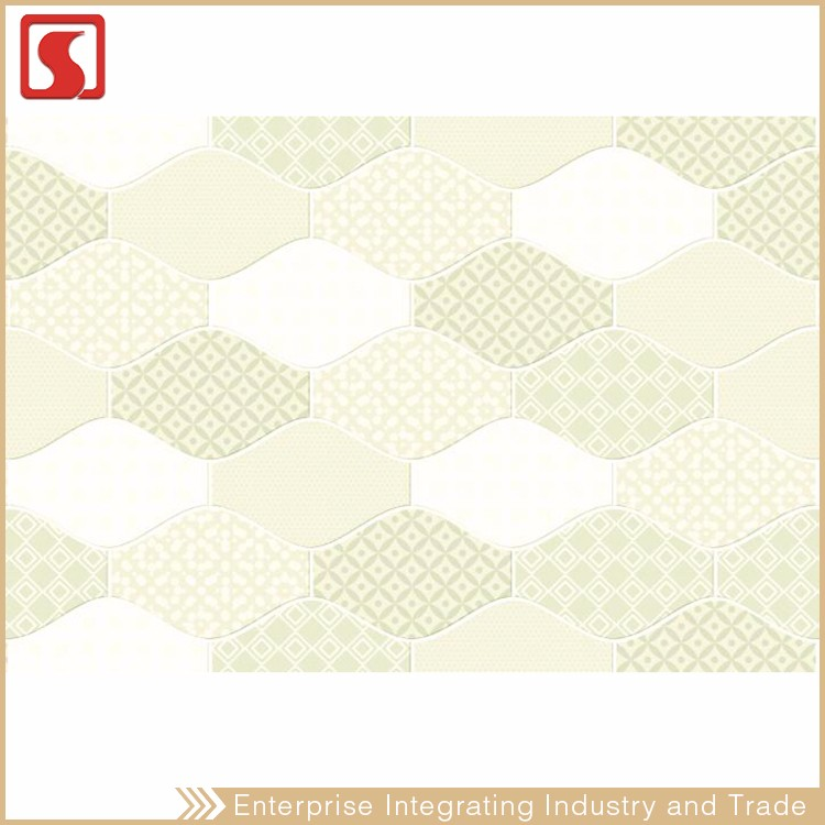 250X330 MM Free Gold Border Mosaic Pattern Wall Tile