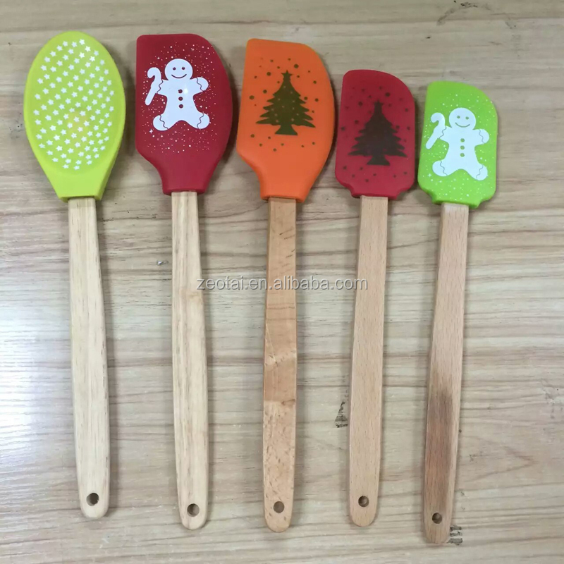 Silicone Butter Knife Spatula with custom printing