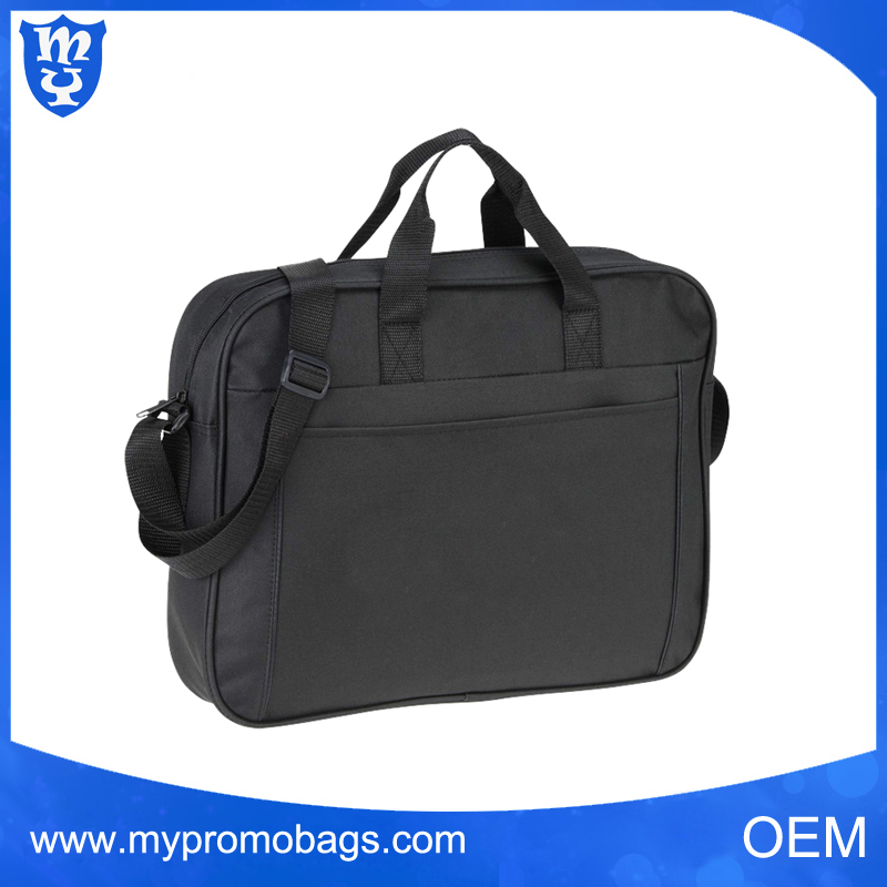 High quality black durable polyester laptop bag shoulder pads