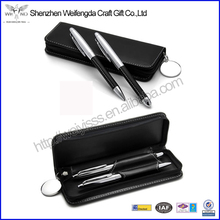 Fancy High Quality Black PU Leather Gift Pen Set