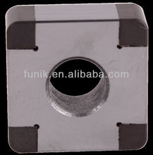 Corner Brazed PCBN Indexable Inserts for hardened steel