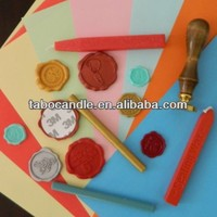 unique design wax seals with strong strong adhesive tape