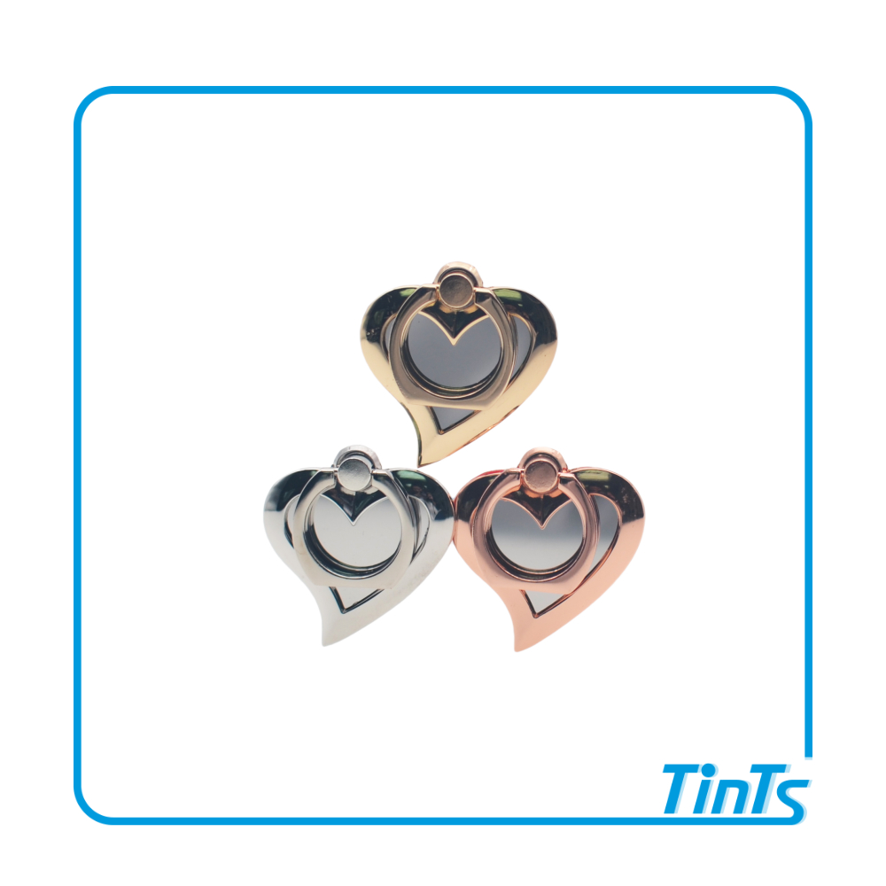 Heart shape 360 degree rotate finger kickstand ring phone holder for iPhone, Android