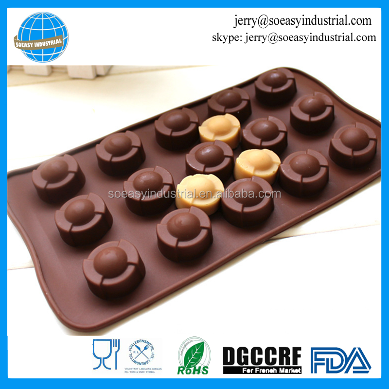 Round shape handmade <strong>silicone</strong> 3d candy chocolate candy soap mold