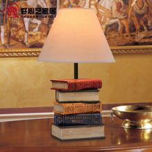 Artistic European retro table lamp Creative books neoclassical study lamp