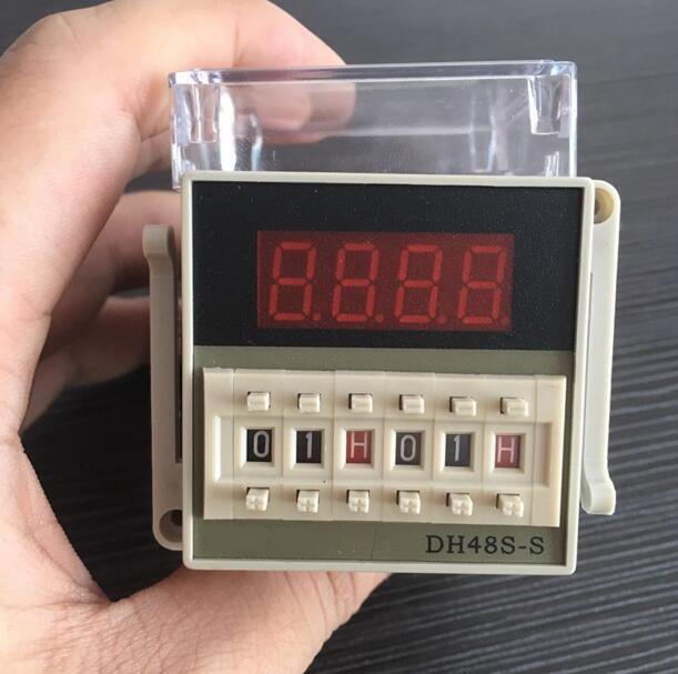 DH48S-S high quality AC 220V repeat cycle SPDT time relay with socket DH48S series 220VAC delay timer with base