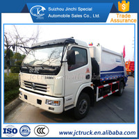 HIgh Performance Dongfeng 8CBM small compactor garbage truck price, garbage can cleaning truck