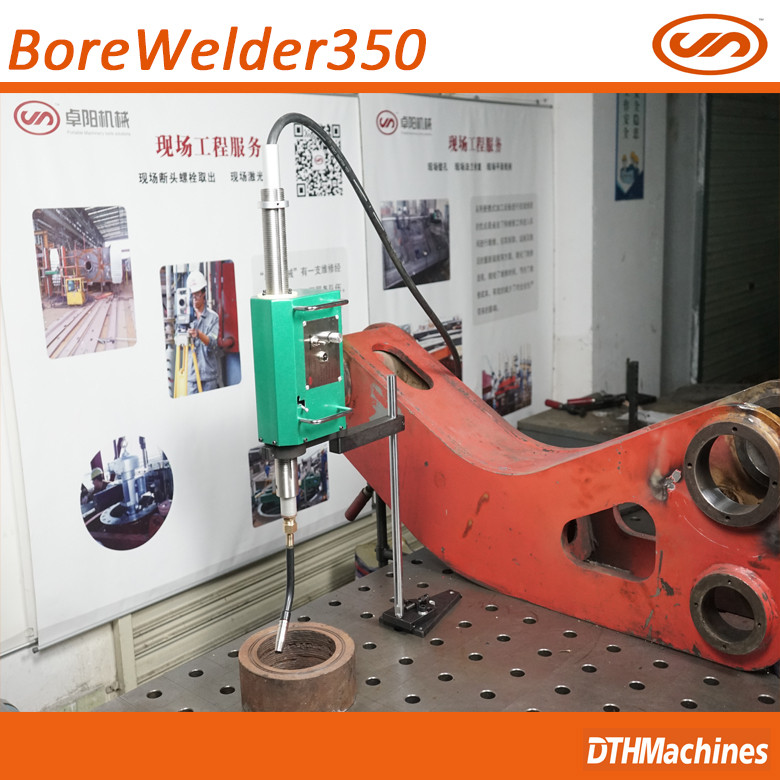 portable line boring and welding bore welder machine