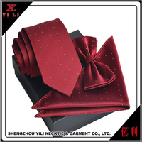 Portable fashion new design neck silk ties and pocket squares