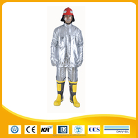 high temperature heat proof aluminium fireman suit with aluminum foil