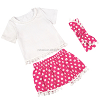 Boutique girl clothing spring and summer spanish baby clothing baby clothes wholesale price