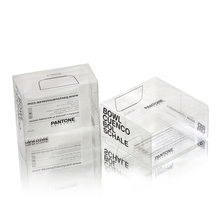 Custom logo clear PET hard plastic box/small soft crease folding plastic box