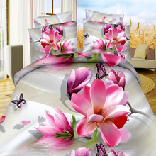 Home Decor Soft beautiful Blooming Flower Design 3d Printed Living Room Kids Quilt Bedding Sheet Set , Duvet Cover Set