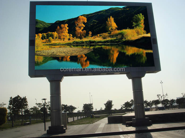 outdoor permanent led display p10 p16 p20 football match stadium advertising/ rental new design led display board p10 video