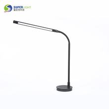 Gooseneck modern led black bedroom table lamp